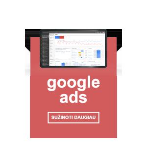 Google Ads reklamos paslaugos