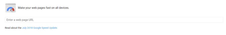 Google PageSpeed įrankis