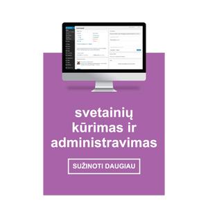 Internetinių svetainių kūrimas ir administravimas
